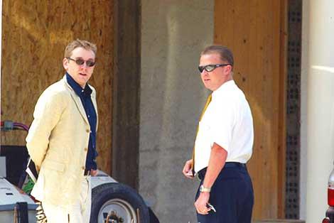 Investigator with Andrew Nolan (right)