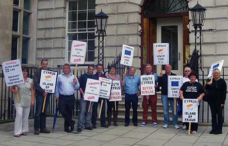 Cyprus High Commission London protest
