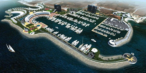 Paralimni marina construction underway