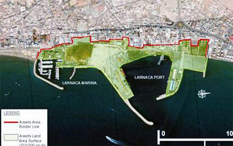 Larnaca marina and port
