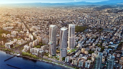 Limassol high-rise Cybarco trilogy
