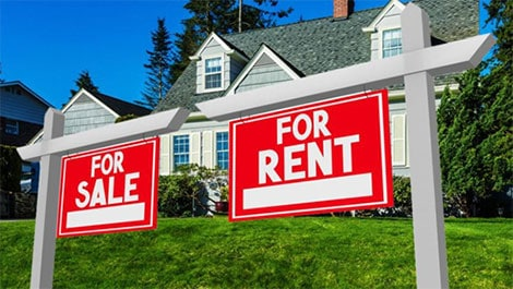 Residential property values based on rents today